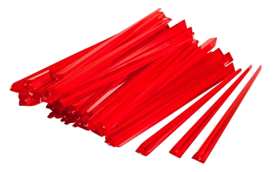 "3 1/2"" RED Prism Pick (1000 Pack) 3, 1/2"", RED, Prism, Pick, Beaumont"