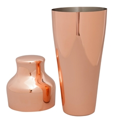 Mezclar 550 ml Copper Plated Art Deco Shaker (Each) Mezclar, 550, ml, Copper, Plated, Art, Deco, Shaker, Beaumont