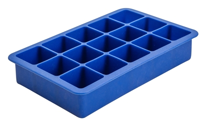 "15 Cavity Silicone Ice Cube Mould 1.25"" Square (Blue) (Each) 15, Cavity, Silicone, Ice, Cube, Mould, 1.25"", Square, Blue, Beaumont"