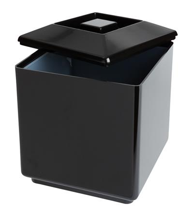 Insulated Square Ice Bucket Black 7pt (Each) Insulated, Square, Ice, Bucket, Black, 7pt, Beaumont