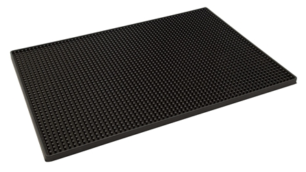 Black Rubber Bar Mat 300 x 450mm (Each) Black, Rubber, Bar, Mat, 300, 450mm, Beaumont