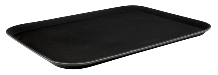 "15""x20"" Black Plastic Non Slip Tray (Each) 15""x20"", Black, Plastic, Non, Slip, Tray, Beaumont"