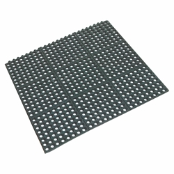 Rubber Floor Mat Black 90 x 90 x 1.2cm Interlocking (Each) Rubber, Floor, Mat, Black, 90, 90, 1.2cm, Interlocking, Beaumont