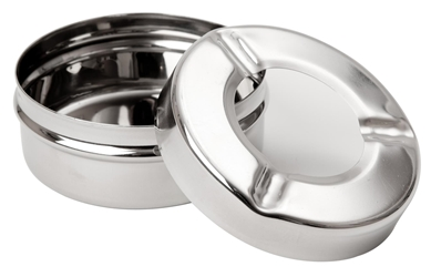 "3 1/2"" St/Steel Windproof Ashtray (24 Pack) 3, 1/2"", St/Steel, Windproof, Ashtray, Beaumont"