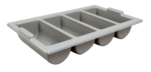 "Cutlery Tray / Box Plastic 13"" x 21"" GREY (Each) Cutlery, Tray, , , BoPlastic, 13"", 21"", GREY, Beaumont"