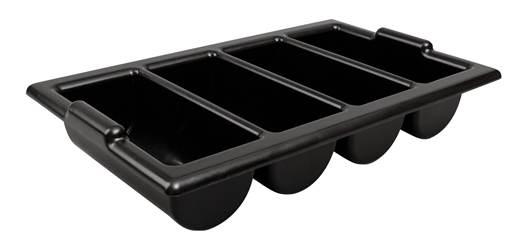"Cutlery Tray / Box Plastic 13"" x 21"" BLACK (Each) Cutlery, Tray, , , BoPlastic, 13"", 21"", BLACK, Beaumont"