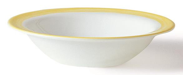"Brush Yellow Rimmed Bowl 4.7"" 12cm (36 Pack) Brush, Yellow, Rimmed, Bowl, 4.7"", 12cm"