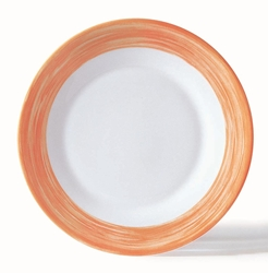 "Brush Orange Dinner Plate 9.3"" 23.5cm (24 Pack) Brush, Orange, Dinner, Plate, 9.3"", 23.5cm"