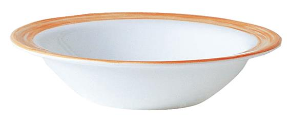"Brush Orange Rimmed Bowl 4.7"" 12cm (36 Pack) Brush, Orange, Rimmed, Bowl, 4.7"", 12cm"
