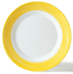 "Brush Yellow Dessert Plate 7.7"" 19.5cm (24 Pack) Brush, Yellow, Dessert, Plate, 7.7"", 19.5cm"