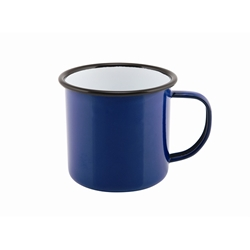 Enamel Mug Blue 36cl/12.5oz (Each) Enamel, Mug, Blue, 36cl/12.5oz, Nevilles