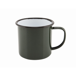 Enamel Mug Green 36cl/12.5oz (Each) Enamel, Mug, Green, 36cl/12.5oz, Nevilles