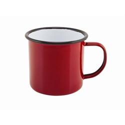 Enamel Mug Red 36cl/12.5oz (Each) Enamel, Mug, Red, 36cl/12.5oz, Nevilles