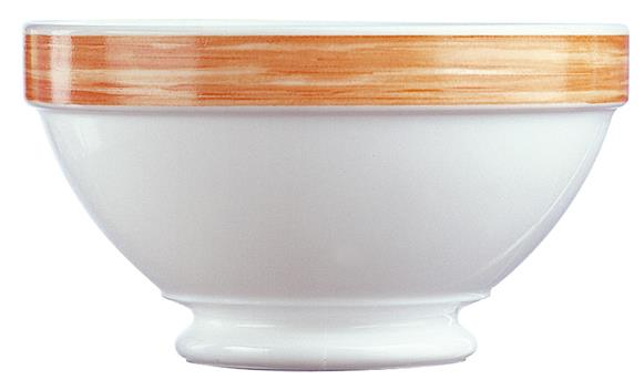 Brush Orange Stackable Footed Bowl 17.5oz 50cl (36 Pack) Brush, Orange, Stackable, Footed, Bowl, 17.5oz, 50cl