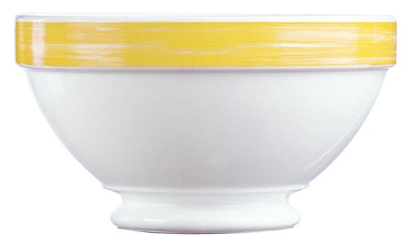 Brush Yellow Stackable Footed Bowl 17.5oz 50cl (36 Pack) Brush, Yellow, Stackable, Footed, Bowl, 17.5oz, 50cl