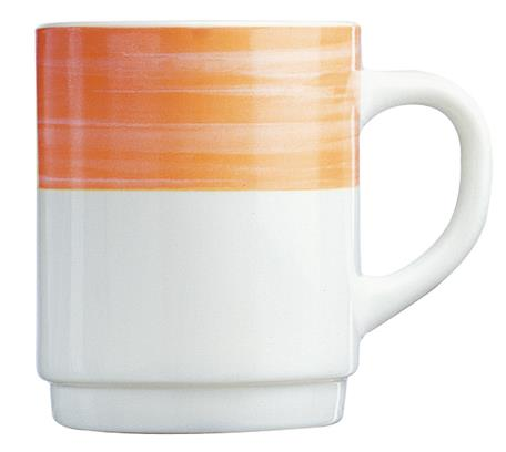 Brush Orange Mug 8.8oz 25cl (36 Pack) Brush, Orange, Mug, 8.8oz, 25cl