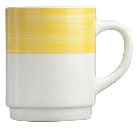 Brush Yellow Mug 8.8oz 25cl (36 Pack) Brush, Yellow, Mug, 8.8oz, 25cl