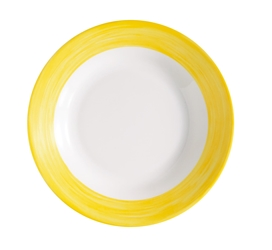 "Brush Yellow Soup Plate 8.9"" 22.5cm (24 Pack) Brush, Yellow, Soup, Plate, 8.9"", 22.5cm"