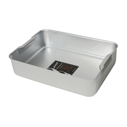 Deep DISH WITH HANDLES 470X355X100mm (Each) Deep, DISH, WITH, HANDLES, 470X355X100mm, Nevilles