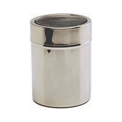 Stainless Steel Shaker with mesh top.(Plastic Cap) (Each) Stainless, Steel, Shaker, with, mesh, top.Plastic, Cap, Nevilles