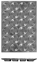 24 Cup Muffin Pan, 104ml / 3.5 oz Each Cup