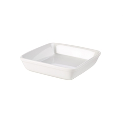 Royal Genware Square Roaster 23cm White (4 Pack) Royal, Genware, Square, Roaster, 23cm, White, Nevilles