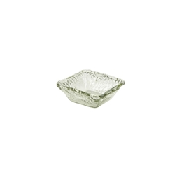 Vintage Glacier Glass Square Bowl 12x12x5cm (6 Pack) Vintage, Glacier, Glass, Square, Bowl, 12x12x5cm, Nevilles