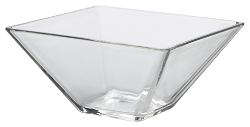 Square Glass Bowl 8 x 4.5cm H (12 Pack) Square, Glass, Bowl, 8, 4.5cm, H, Nevilles