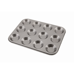 Carbon Steel Non-Stick 12 Cup Bun Tray (Each) Carbon, Steel, Non-Stick, 12, Cup, Bun, Tray, Nevilles