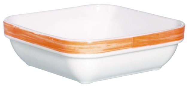 "Brush Orange Square Multi Purpose Dish 4.3"" 11cm (24 Pack) Brush, Orange, Square, Multi, Purpose, Dish, 4.3"", 11cm"