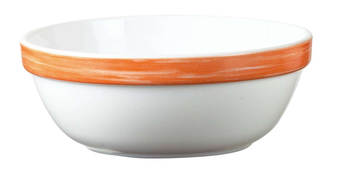 "Brush Orange Stackable Bowl 4.7"" 12cm (36 Pack) Brush, Orange, Stackable, Bowl, 4.7"", 12cm"