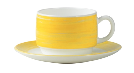 Brush Yellow Stacking Cup 6.7oz 19cl (48 Pack) Brush, Yellow, Stacking, Cup, 6.7oz, 19cl