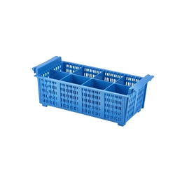 8 Compartment Cutlery Basket (Blue)430x210x155mm (Each) 8, Compartment, Cutlery, Basket, Blue430x210x155mm, Nevilles