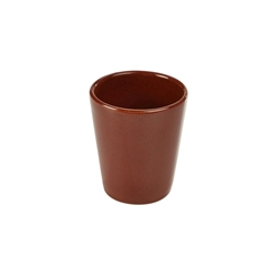 Terra Stoneware Rustic Red Conical Cup 10cm (12 Pack) Terra, Stoneware, Rustic, Red, Conical, Cup, 10cm, Nevilles