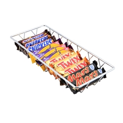 Chrome Display Basket 35X15X5cm (Each) Chrome, Display, Basket, 35X15X5cm, Nevilles