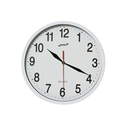 Kitchen Clock White 24cm Dia (Each) Kitchen, Clock, White, 24cm, Dia, Nevilles