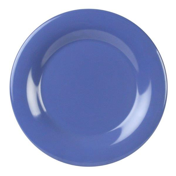 Wide Rim Plate 10 1/2? / 270mm, Blue (12 Pack)