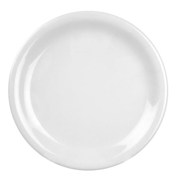 Narrow Rim Plate 9? / 230mm, White (12 Pack)