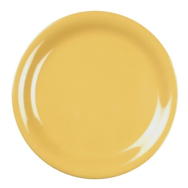 Narrow Rim Plate 9? / 230mm, Yellow