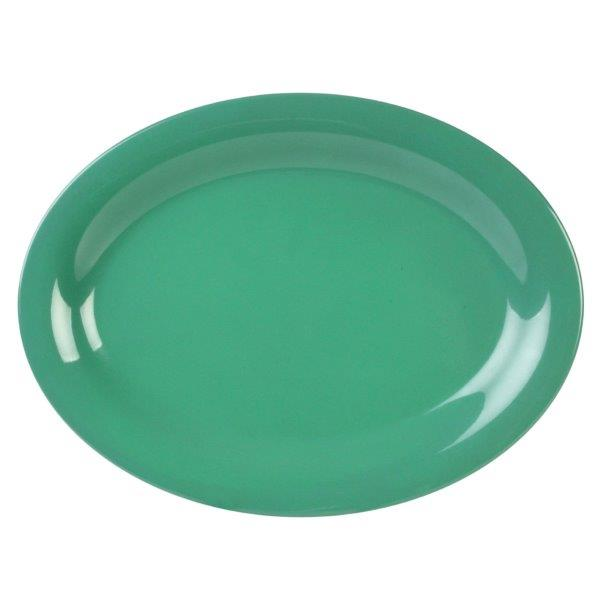 9 1/2in X 7 1/4in / 240mm X 185mm Platter, Green (4 Pack)