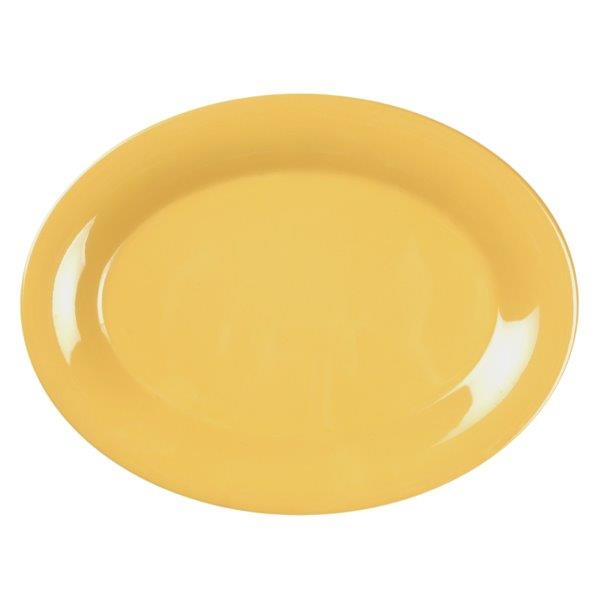 9 1/2? X 7 1/4? / 240mm X 185mm Platter, Yellow
