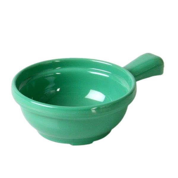 10 oz, 4 1/4? X 6 3/4? X 2? / 110mm X 170mm X 50mm, Soup Bowl w/ Handle, Green