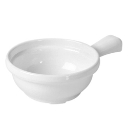 10 oz, 4 1/4? X 6 3/4? X 2? / 110mm X 170mm X 50mm, Soup Bowl w/ Handle, White
