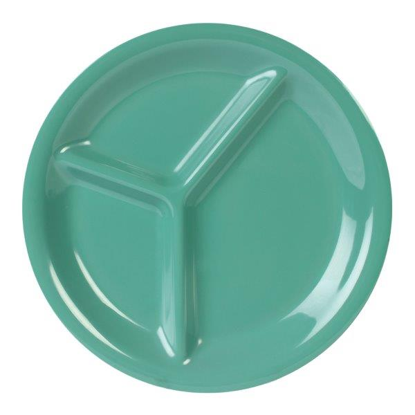 10 1/4? / 260mm, 3 Compartment Plate, Green