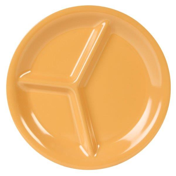 10 1/4? / 260mm, 3 Compartment Plate, Yellow