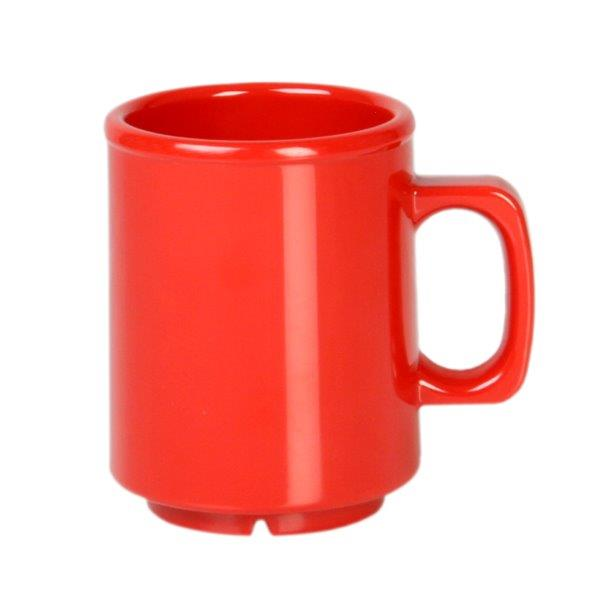 8 oz Mug, Pure Red (12 Pack)