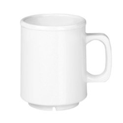 8 oz Mug, White Melamine (case of 12)