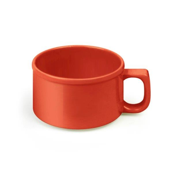 8 oz, 4? / 100mm Soup Mug, Pure Red (12 Pack)