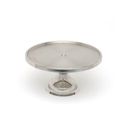 Genware Stainless Steel Cake Stand 13Diameter 6.5 High (Each) Genware, Stainless, Steel, Cake, Stand, 13Diameter, 6.5, High, Nevilles