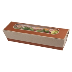 Cafe Today Tuck-top Baguette Box (brown)